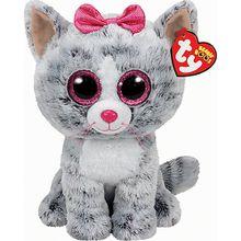 Beanie Boo Kiki  Katze grau, 24cm