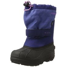 Columbia Unisex-Kinder Childrens Powderbug Plus Ii Schneestiefel, Blau (Navy), 27 EU