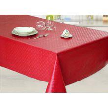 Wachstuch Tischdecke Abwaschbar Eckig 140 x 180 cm Meterware Rot