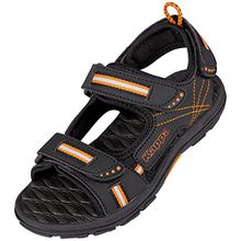 Kappa Unisex-Kinder Korfu Teens Sandalen, Schwarz (1144 Black/Orange), 36 EU