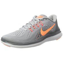 Nike Damen 898476 Sneakers, Mehrfarbig (003 Gris Naranja), 36 EU