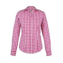 Damen Almsach Trachten-Bluse pink-weiß kariert 'Maria', pink, 40