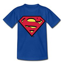 Spreadshirt DC Comics Superman Logo Original Kinder T-Shirt, 110/116 (5-6 Jahre), Royalblau