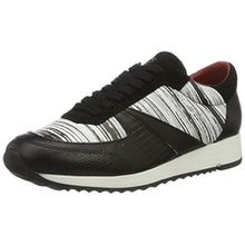 Liebeskind Berlin Damen LF173100 Bmono Sneakers, Mehrfarbig (Ivory White/Schwarz), 36 EU