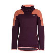 TAO Sportswear Atmungsaktives Damen Langarmshirt mit Stehkragen COMBLINE SHIRT Funktionsshirts lila-kombi Damen