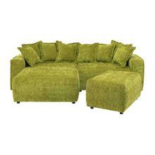 Gent 2-Sitzer Sofa mit Longchair links