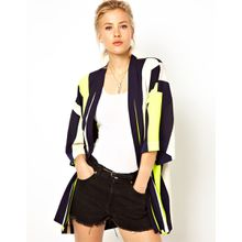 ASOS – Kimono mit breiten, neonfarbenen Streifen
