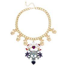 ASOS – Celebration – Ausgefallene Halskette mit Totenkopfdesign