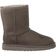 UGG¨ Australia - Classic Short Leather Kid«s - Kinder Stiefel Gr. 30-34, Farbe:feather;Grš§e:US k02 / EUR 32
