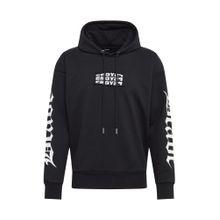 DIESEL Sweatshirt 'S-ALBY-HOOD-Y2' schwarz / weiß
