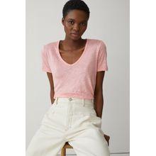 CLOSED T-Shirt aus reinem Leinen camellia