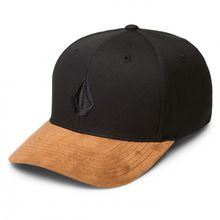 Volcom - Full Stone Heather Xfit Cotton - Cap Gr L/XL schwarz