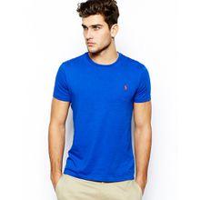 Polo Ralph Lauren - T-Shirt mit Rundhalsausschnitt und Logo - Blau