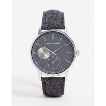 ASOS DESIGN – Uhr mit Filzarmband in Anthrazit-Grau