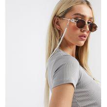 My Accessories – Exklusive Sonnenbrillen-Kette mit Perlendetails in Silber