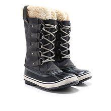 Sorel Damen Joan von arktischen Lammfell Stiefel Aus Veloursleder UK 6.5 Dark Grey,Black