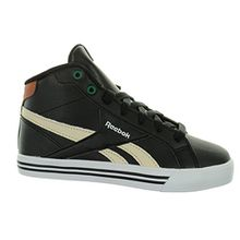 Reebok Royal Comp Mid Syn Kinder Sneaker Skater boots (30.5, blck/paperwht/jade/brown)
