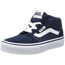 Vans Unisex-Kinder Chapman Mid Sneaker, Blau (Suede/Canvas), 34.5 EU