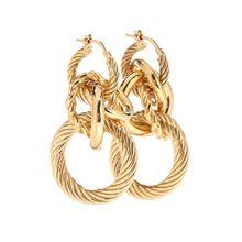 Vergoldete Ohrringe aus Sterlingsilber