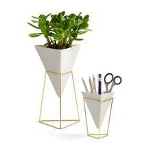 """umbra 2er-Set Vase & Aufbewahrung """"Trigg Vessel"""" weiß/gold"""