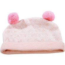 Puppenkleidung Mütze, pink stripes 42-50 cm