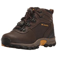 Columbia Newton Ridge Unisex-Kinder Trekking- & Wanderhalbschuhe, Braun (Cordovan/Golden Yellow), 26 EU