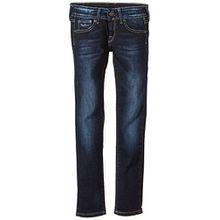 Pepe Jeans Mädchen Jeans NEW SABER, Gr. 176 (Herstellergröße: L), Blau (DENIM 11OZ DK STEEL BLUE USED J08)