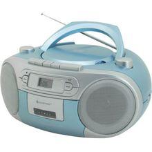 Soundmaster CD Player mit Radio und Kassettenspieler, hellblau