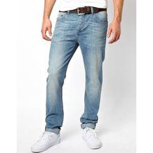 ASOS - Schmale Jeans in heller Waschung - Blau