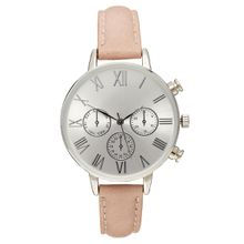 ASOS - Uhr mit großem Zifferblatt - Rosa
