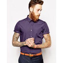 ASOS - Kurzärmliges, elegantes Hemd - Mulberry