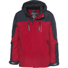KILLTEC Outdoorjacke 'KAUKO' anthrazit / rot