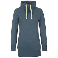 Desires Jannika Damen Langes Sweatshirt Pullover Longpullover Mit Stehkragen Und Fleece-Innenseite, Größe:S, Farbe:Ensign blue (70260)