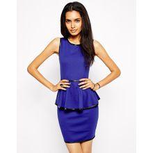 Glamorous – Schößchenkleid mit Kontrastbesatz