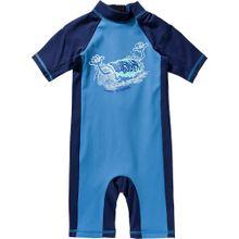 QUIKSILVER Schwimmanzug türkis / hellblau / dunkelblau / weiß