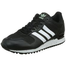 adidas Originals Damen ZX 700 Sneaker, Schwarz (Core Black/FTWR White/Frozen Green F15), 39 1/3 EU