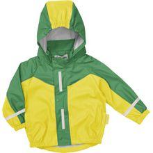 Playshoes Jungen Regenmantel 408650 Sportliche Regenjacke für Kinder, mit Reflektoren, Oeko-Tex Standard 100, Gr. 128, Gelb (grün/gelb)