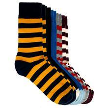 ASOS – Socken im 5er-Set mit Rugbystreifen
