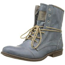 Mustang Damen 1157-503 Combat Boots, Blau (875 Sky), 40 EU