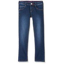 ESPRIT Kids Mädchen Jeans Permanent Denim, Blau (Dark Indigo Denim 461), 128
