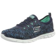 Skechers Glider Deep Space, Damen Sneakers, Blau (NVGR), 40 EU