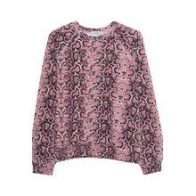 Oversized Sweatshirt Python Rose