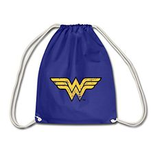 Spreadshirt DC Comics Justice League Wonder Woman Logo Turnbeutel, Königsblau