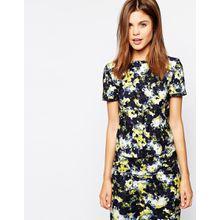 Warehouse - T-Shirt mit abstraktem Blumenmuster - Mehrfarbig