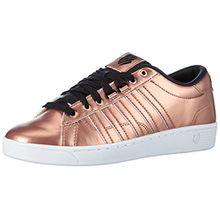 K-Swiss Hoke Metallic CMF S, Damen Sneakers, Pink (RSEGLD/BLK/WHT 285), 39.5 EU (6 Damen UK)