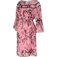 MLFIORELLA 3/4 WOVEN SHORT DRESS - Umstandskleider - weiblich pink-kombi Damen Kinder