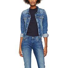 Pepe Jeans Damen Core Jacket Jacke, Blau (Denim), 36 (Herstellergröße: X-Small)