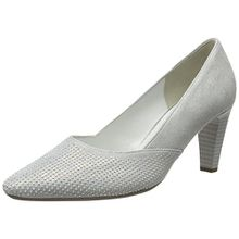 Gabor Shoes Damen Fashion Pumps, Weiß (Ice +Absatz 61), 42 EU