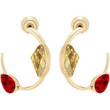 Prisma Ohrringe, mehrfarbig, vergoldet