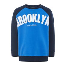 NAME IT Sweatshirt nachtblau / royalblau / weiß